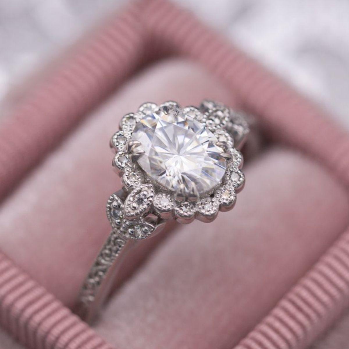 moissanite - ethical engagement ring