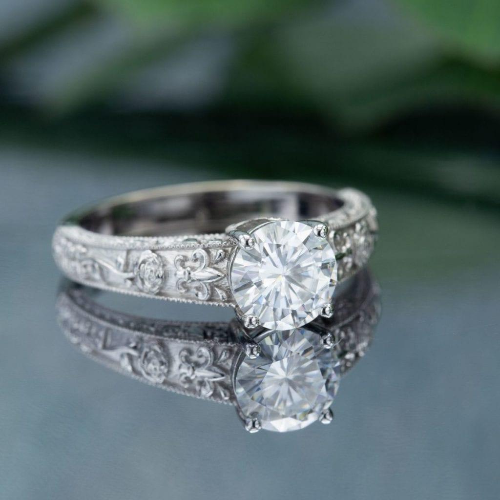moissanite engagement ring - what carat diamond should I choose