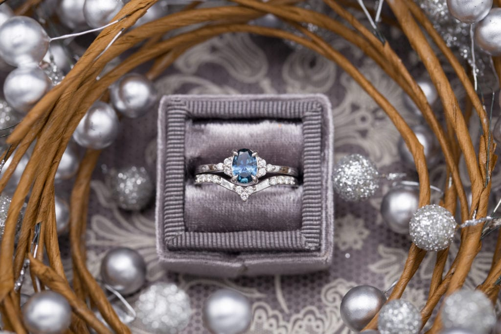 montana sapphire - ethical engagement ring