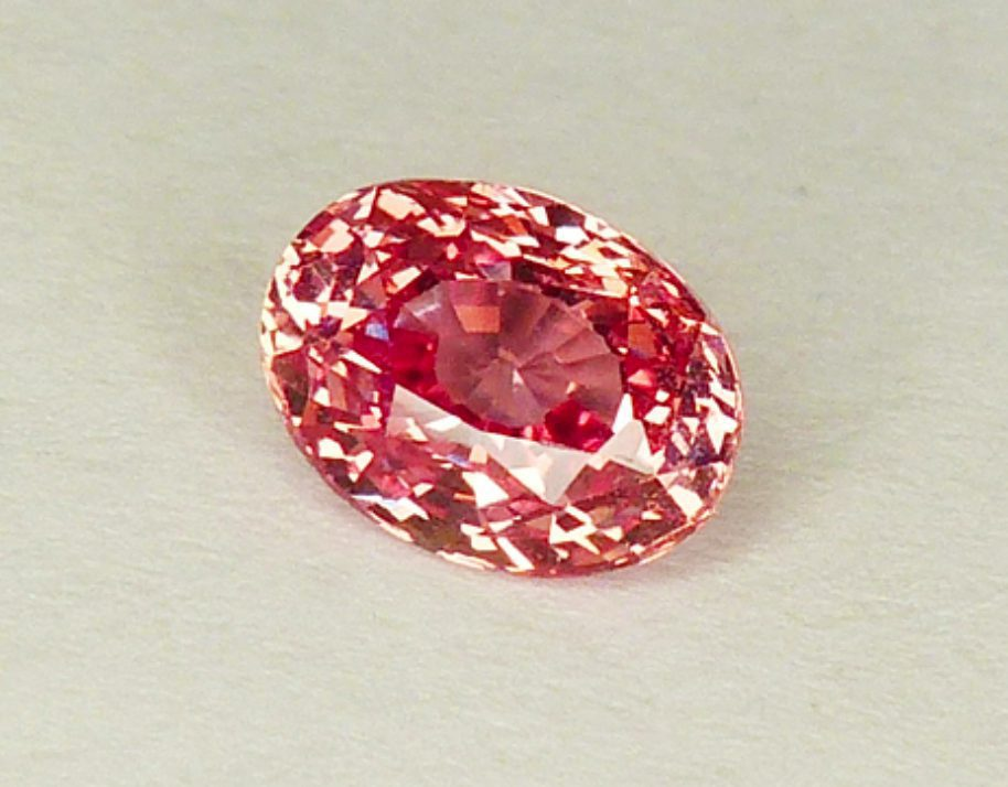 oval-cut padparadscha sapphire