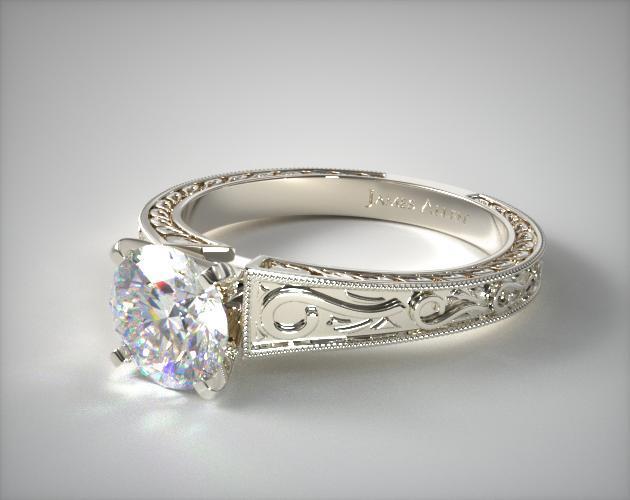 platinum filigree - vintage engagement rings
