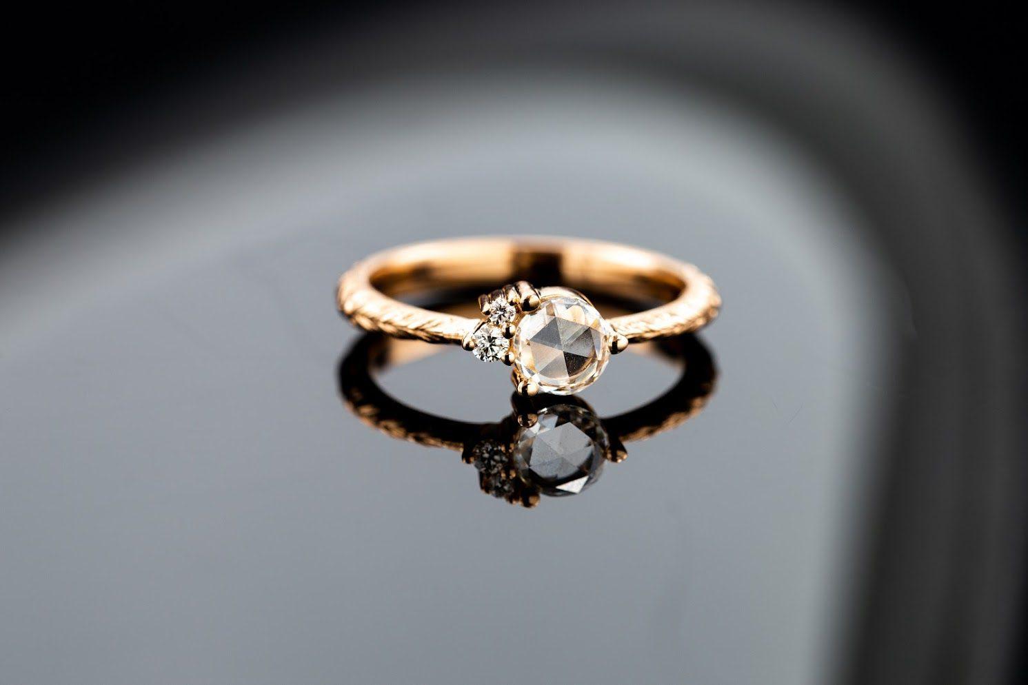 rose cut diamond - vintage engagement rings
