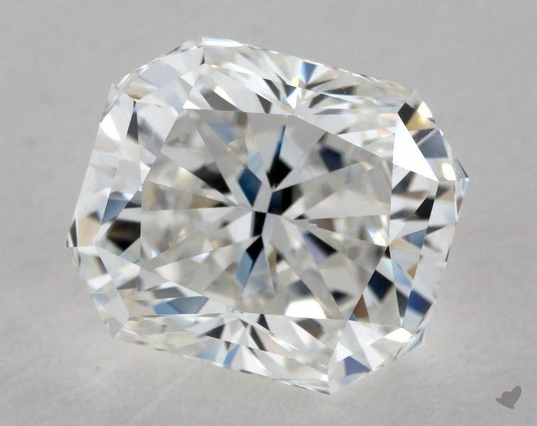 severely truncated corners - radiant-cut diamonds
