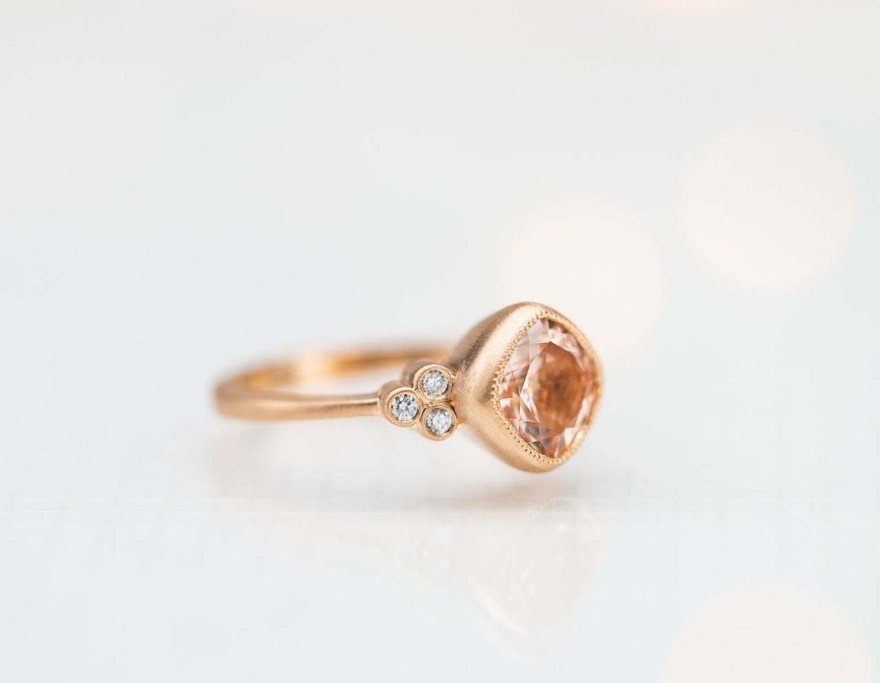 soft brush morganite - engagement ring setting