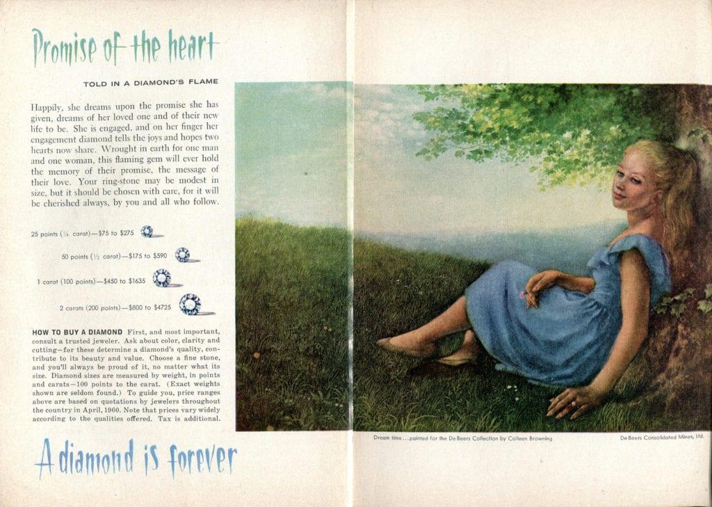De Beers advertisement - vintage engagement rings