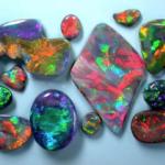 Australian black opals - opal types