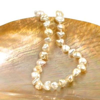 akoya keshi bracelet - keshi pearls and souffle pearls