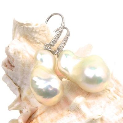 souffle pearl earrings - keshi pearls and souffle pearls