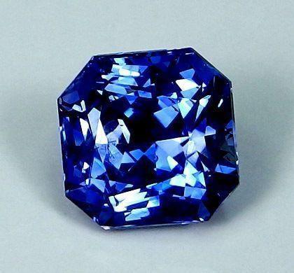 GIA-certified octagonal mixed-cut sapphire