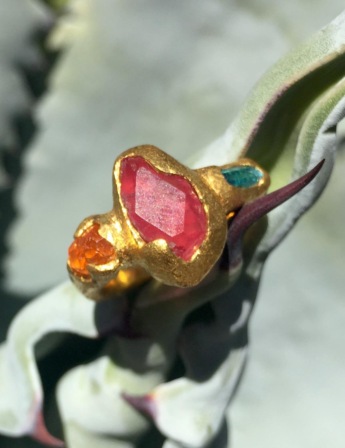 pezzottaite ring