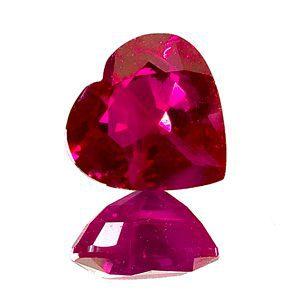 heart-shaped ruby