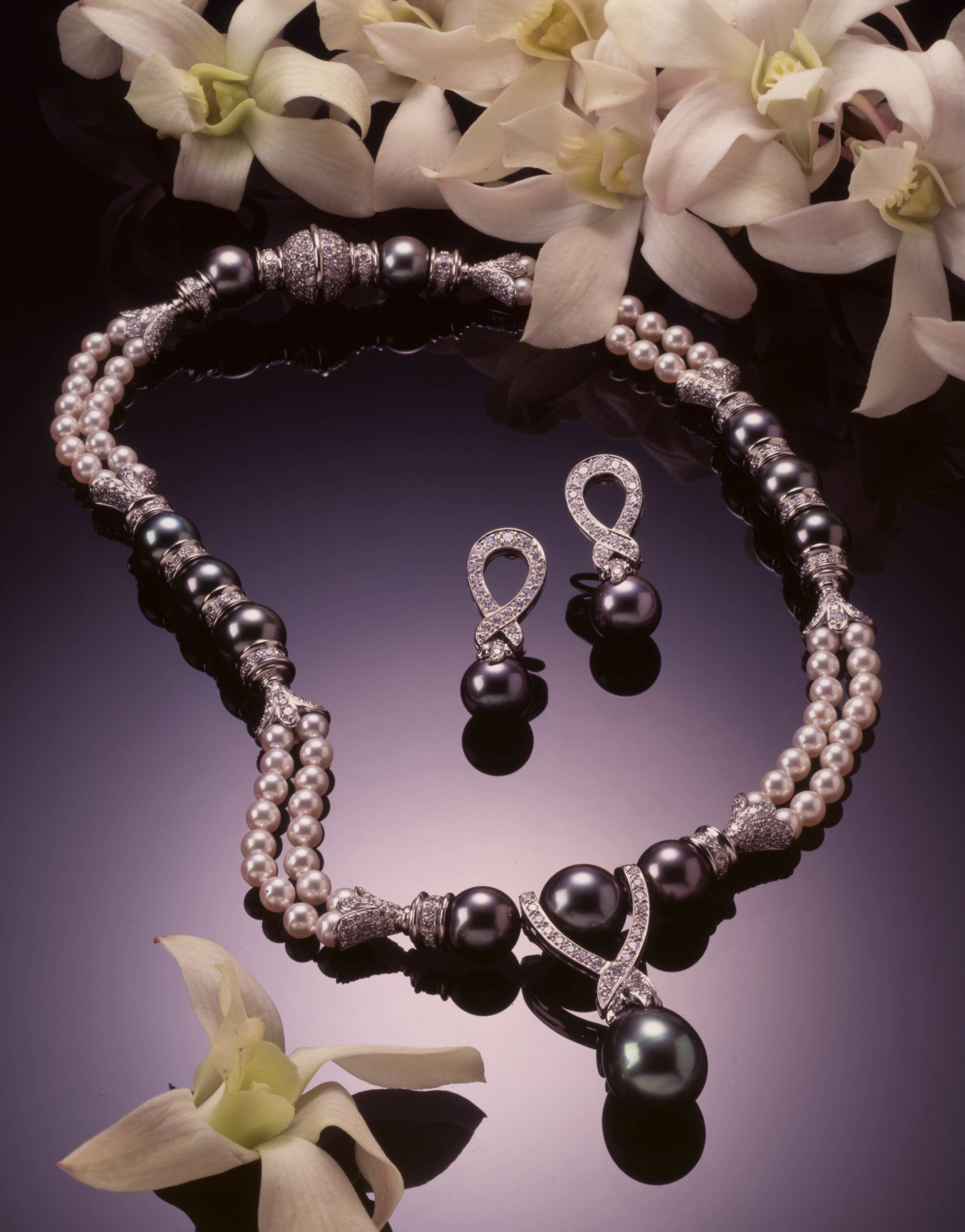 Tahitian pearls jewelry design for Robert Wan