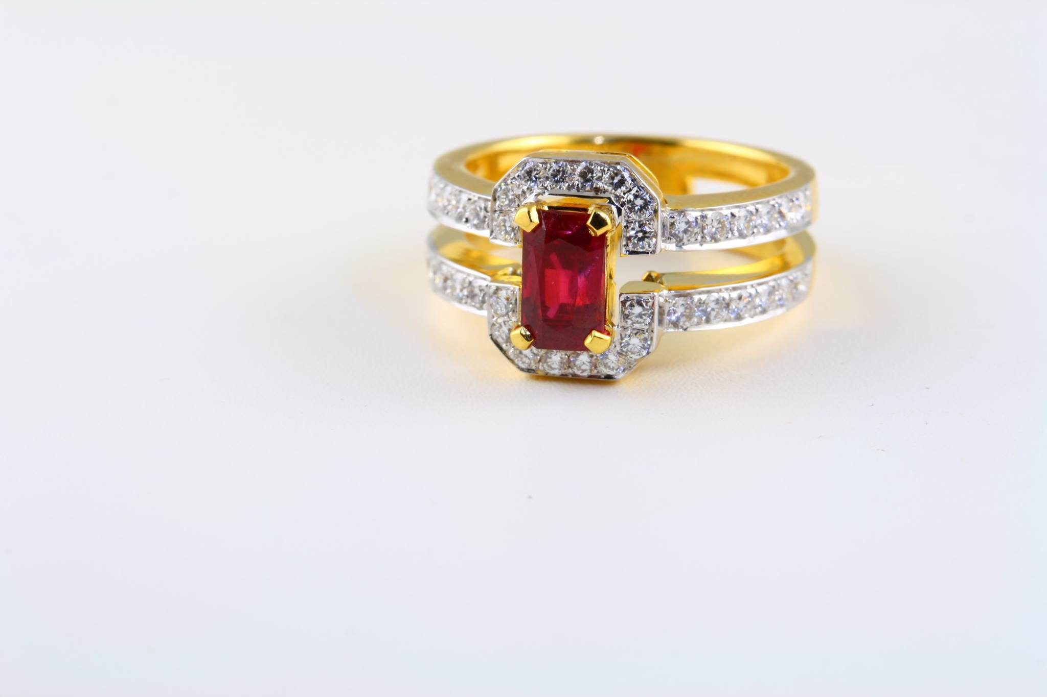 unheated burma ruby engagement ring