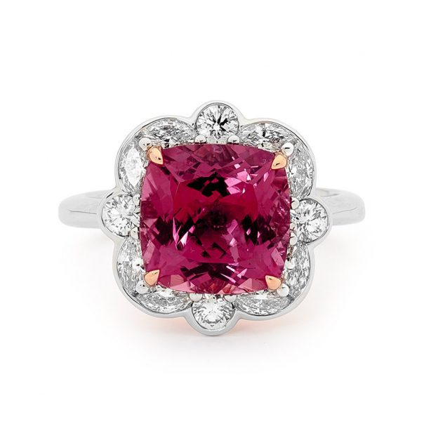 4.5 ct tourmaline engagement ring