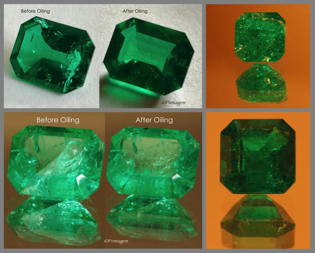 before and after - emerald clarity enhancement