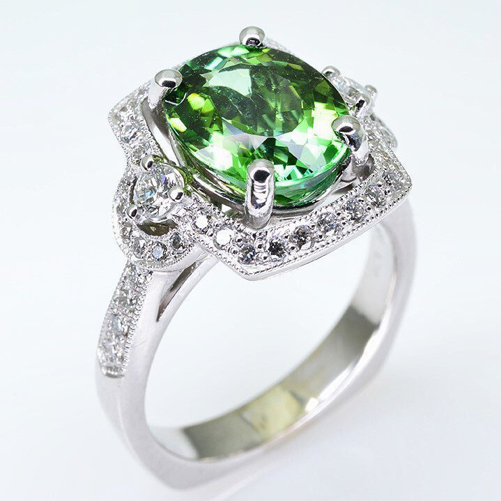 bright green tourmaline
