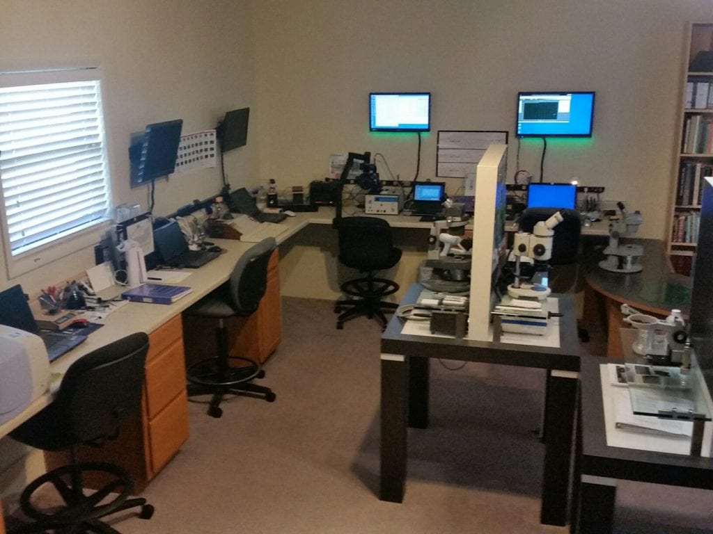 Lab with advanced gemology tools