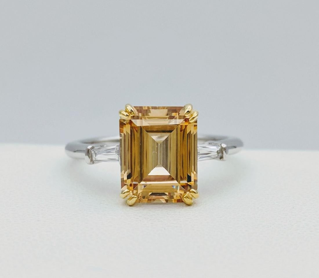 mixed metal citrine engagement ring