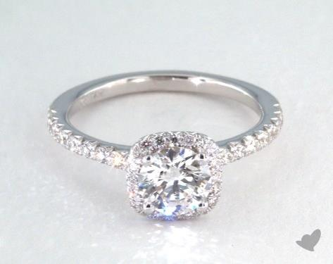 e color diamond halo engagement ring