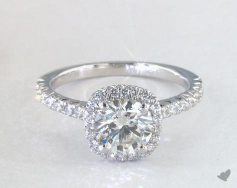 j color diamond halo engagement ring
