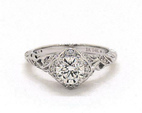 D in vintage ring