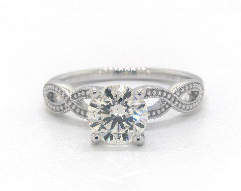 m color diamond in white gold