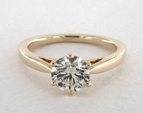 K color solitaire engagement ring