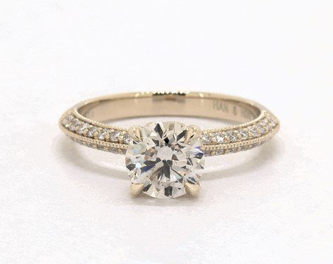M color pave engagement ring