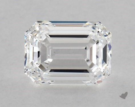 SI1 emerald-cut diamond
