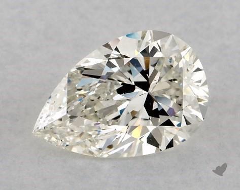 I color pear shape diamond