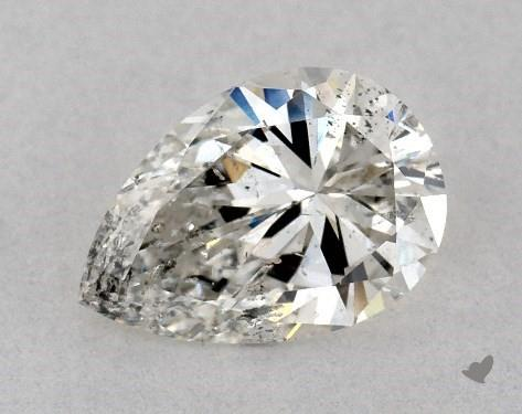 I clarity pear-shaped diamond