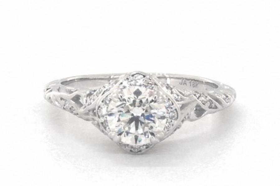 h in vintage ring