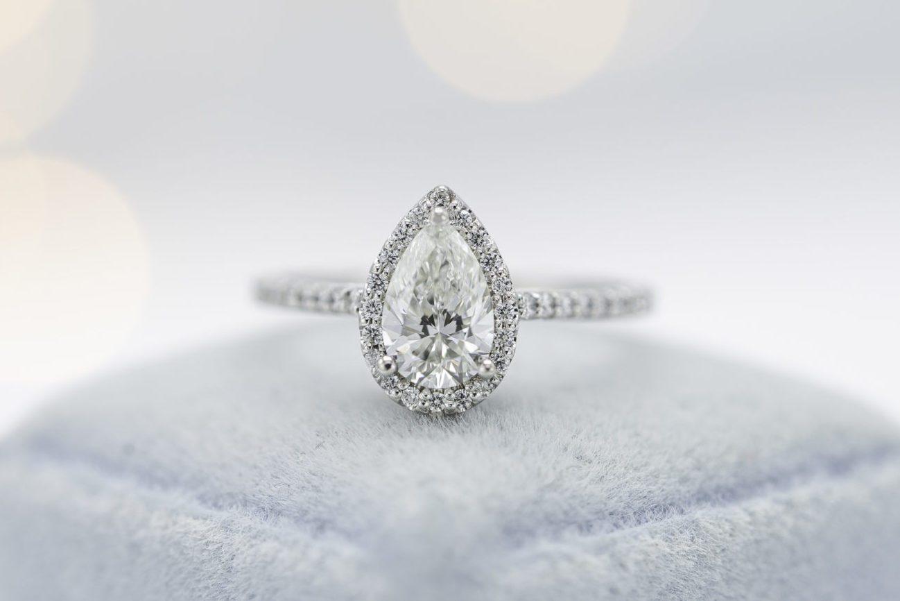 lab-made pear diamond