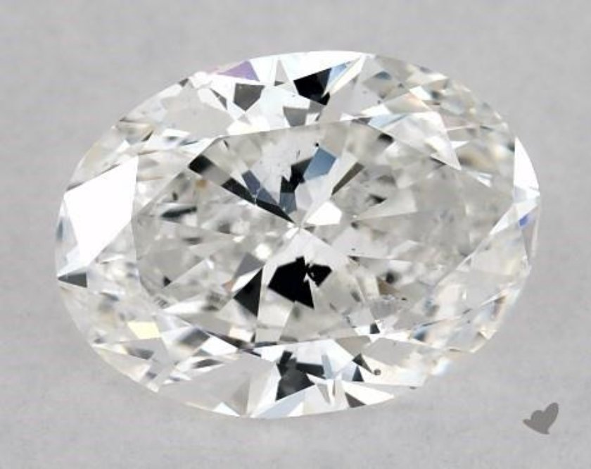 SI1 oval diamond loose