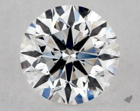 magnification of flawed diamond