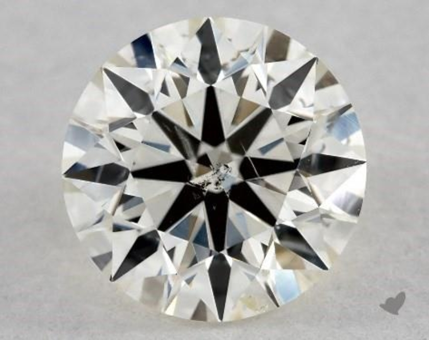 si2 diamond with flaw