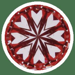 hearts pattern - super ideal cut diamond