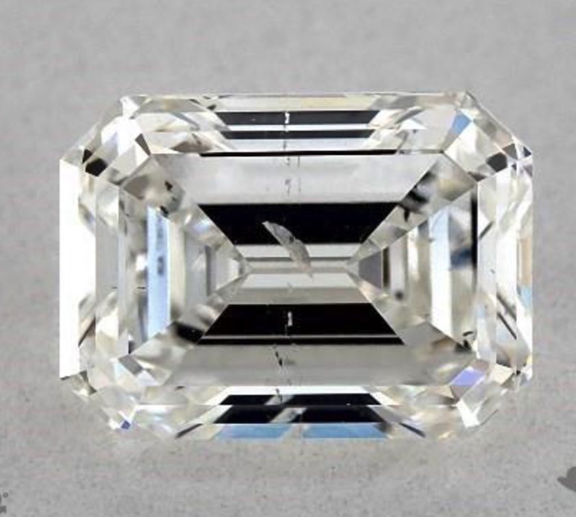 emerald cut with inclusions
