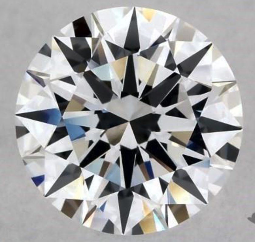 1.30-ct, D color, F clarity round