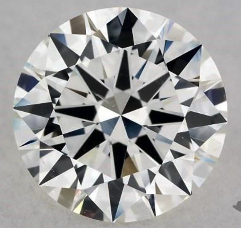 1.30-ct, H color, SI1 clarity round