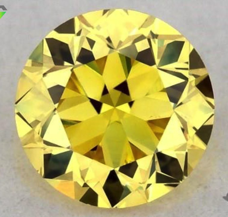Fancy vivid yellow diamond - VS1