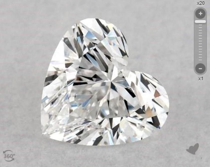 IF clarity heart-cut diamond