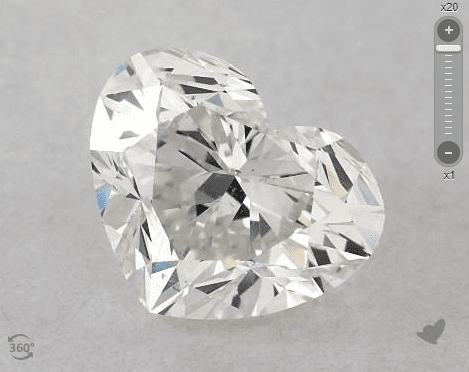 heart-cut diamond - wide