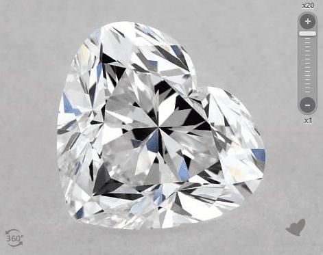 heart-cut diamond - shallow cleft