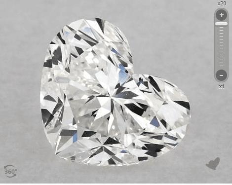 heart-cut diamond - no point