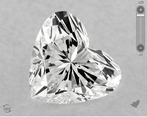 heart-cut diamond - pointed lobes