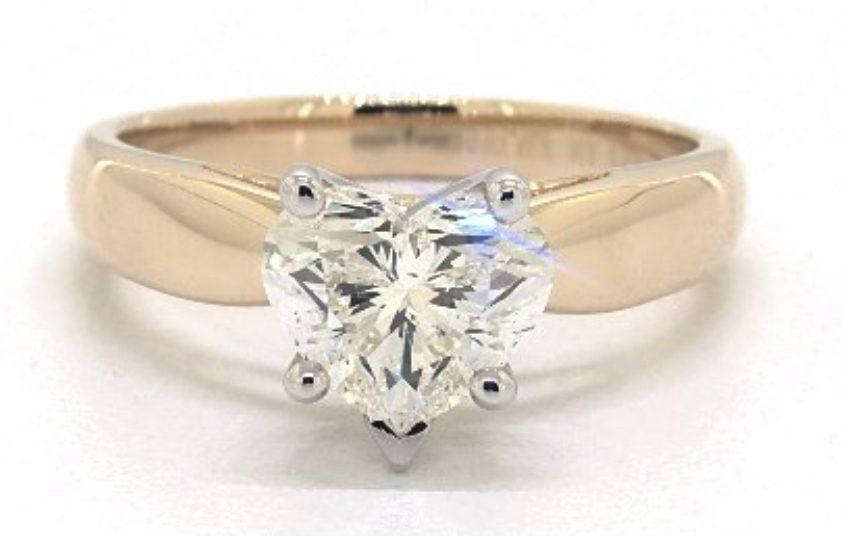 heart-cut diamond engagement ring