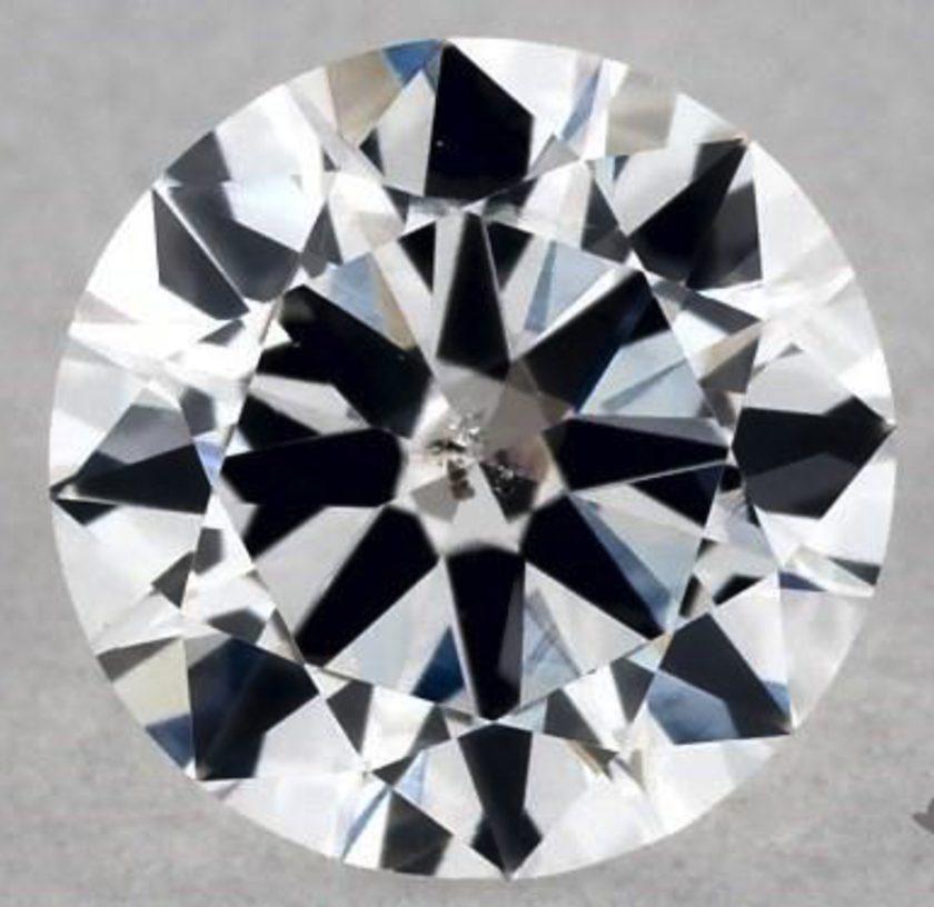 0.30-ct D color, I1 clarity diamond