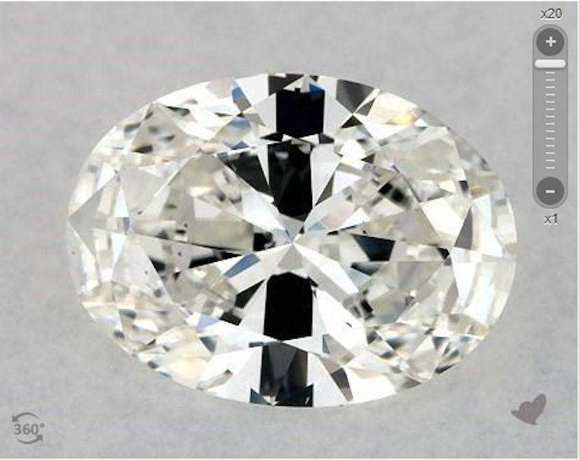 oval diamond - large bowtie