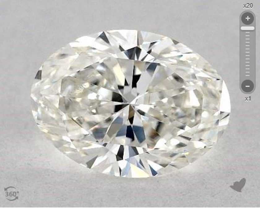 oval diamond - small bowtie